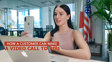 How a Customer Can Make a Video Call to You