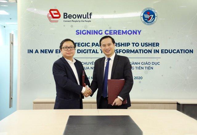 Trường Đại học Vinh ký kết thỏa thuận hợp tác với Công ty TNHH Beowulf Việt Nam
